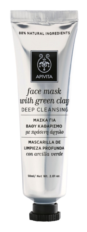 Apivita Express Beauty Green Clay mélytisztító arcmaszk