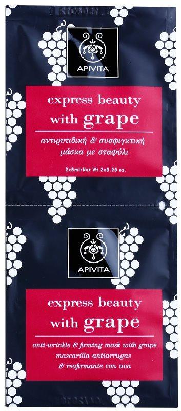 Apivita Express Beauty Grape ránctalanító és feszesítő arcpakolás