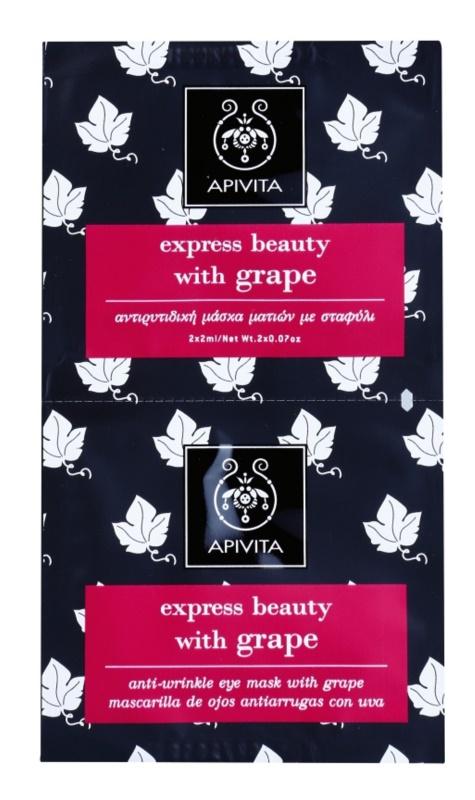 Apivita Express Beauty Grape Maske für die Augen gegen Falten