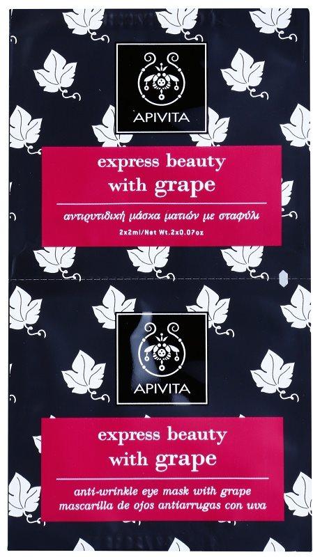 Apivita Express Beauty Grape маска проти зморшок для шкіри навколо очей