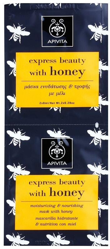 Apivita Express Beauty Honey hydratačná a vyživujúca pleťová maska