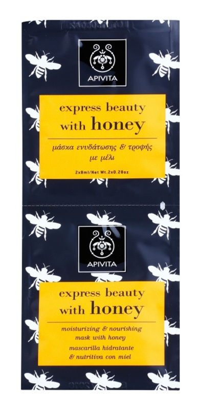 Apivita Express Beauty Honey maschera idratante e nutriente viso