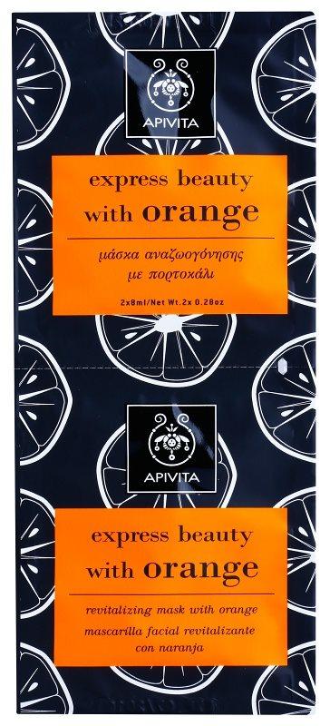 Apivita Express Beauty Orange masque revitalisant visage