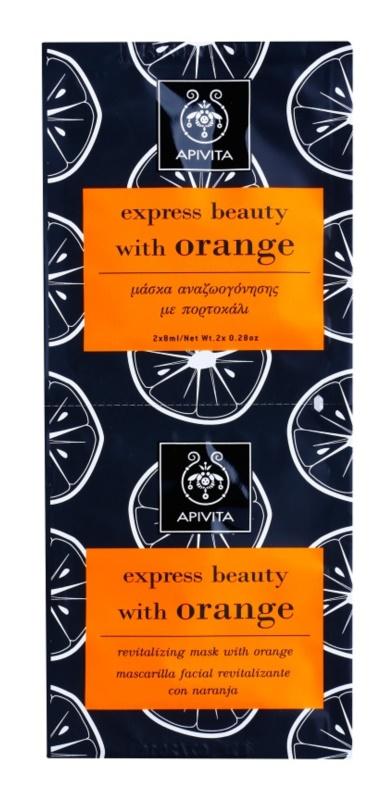 Apivita Express Beauty Orange revitalizacijska maska za obraz