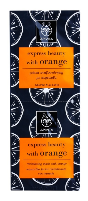 Apivita Express Beauty Orange revitalizačná pleťová maska