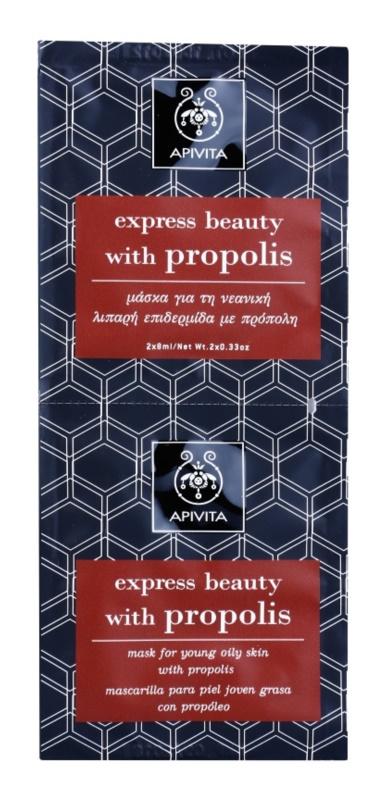 Apivita Express Beauty Propolis čistiaca maska pre mastnú pleť