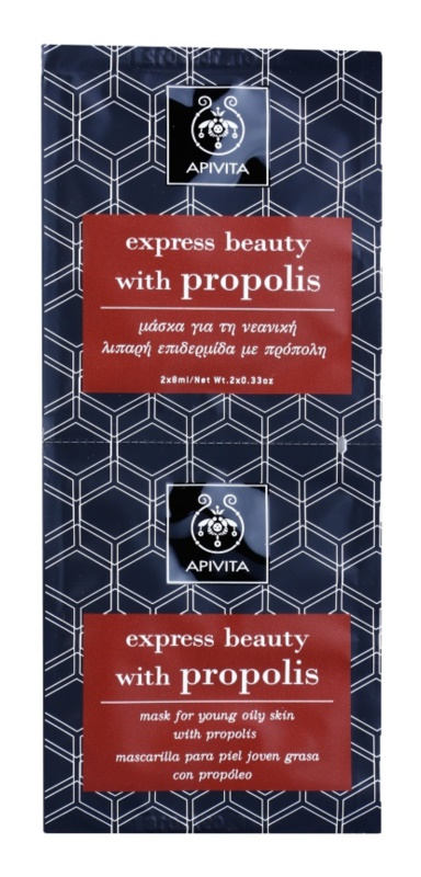 Apivita Express Beauty Propolis maska za čišćenje za masno lice