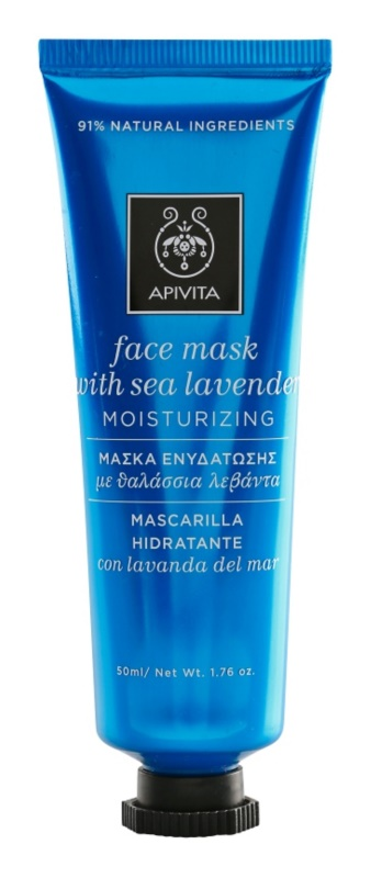 Apivita Express Beauty Sea Lavender maschera idratante e antiossidante viso