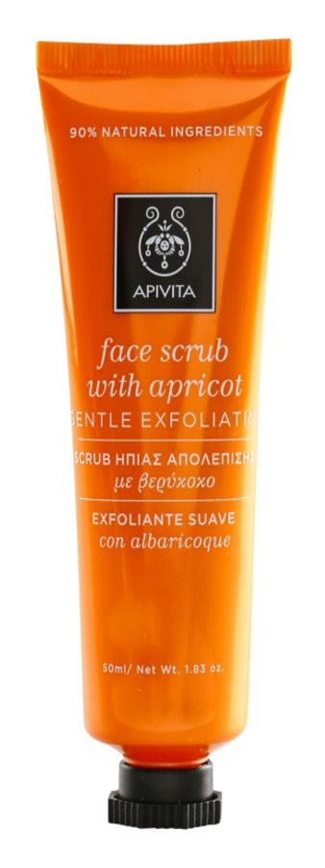 Apivita Express Beauty Apricot jemný pleťový peeling
