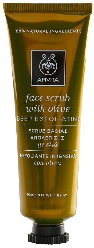 Apivita Express Beauty Olive globinsko čistilni piling za obraz