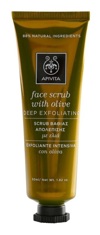 Apivita Express Beauty Olive scrub di pulizia profonda per il viso
