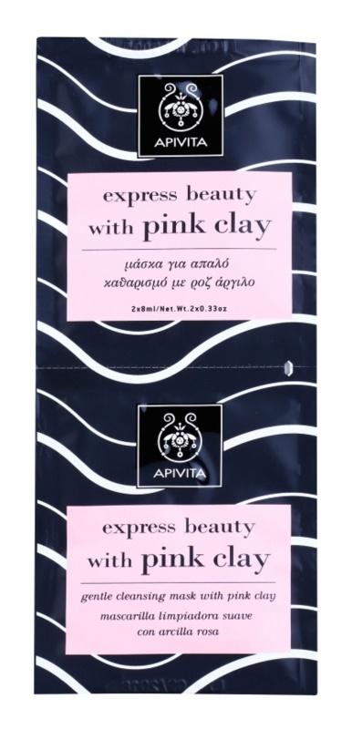 Apivita Express Beauty Pink Clay jemná čisticí pleťová maska