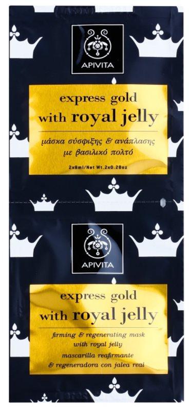 Apivita Express Gold Royal Jelly festigende und regenerierende Gesichtsmaske