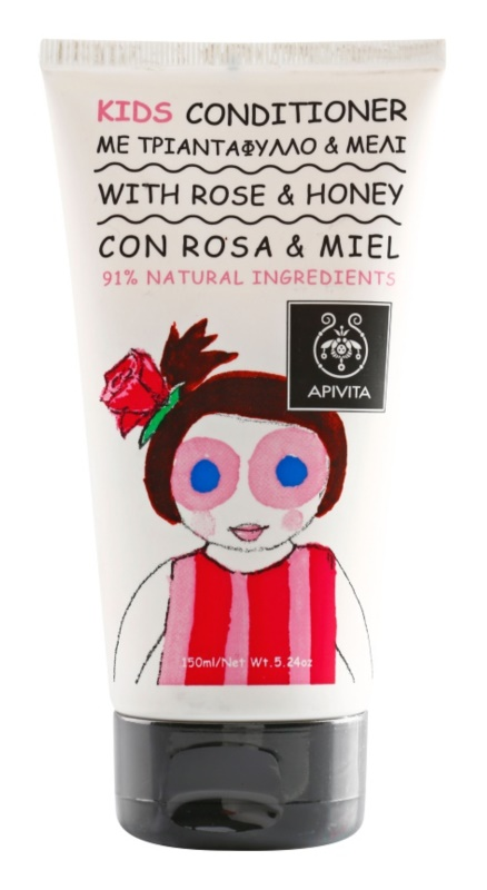 Apivita Kids Rose & Honey acondicionador capilar para niños