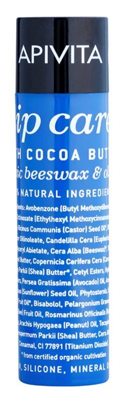Apivita Lip Care Cocoa Butter intensives Feuchtigkeit spendendes Lippenbalsam SPF 20