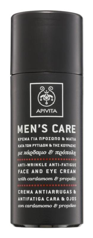 Apivita Men's Care Cardamom & Propolis Anti-Faltencreme für Gesicht und Augen