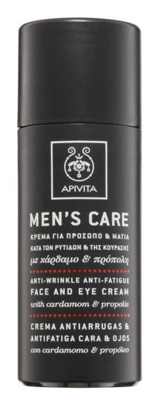 Apivita Men's Care Cardamom & Propolis Anti-Wrinkle Cream for Face and Eyes