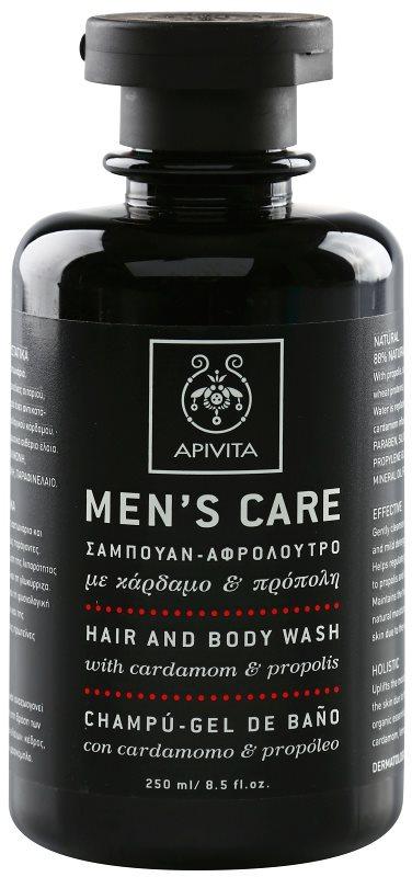 Apivita Men's Care Cardamom & Propolis šampon a sprchový gel 2 v 1