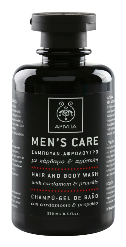 Apivita Men's Care Cardamom & Propolis šampon in gel za prhanje 2v1