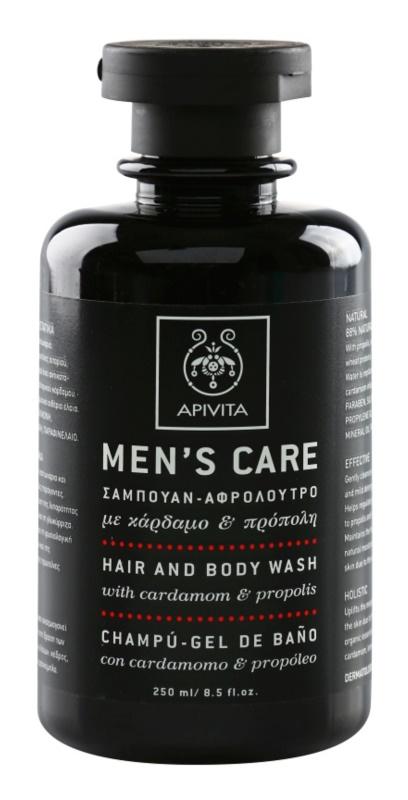 Apivita Men's Care Cardamom & Propolis šampon in gel za prhanje 2v1