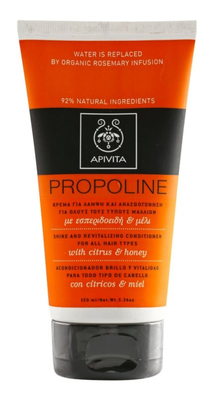 Apivita Holistic Hair Care Citrus & Honey acondicionador revitalizante para todo tipo de cabello