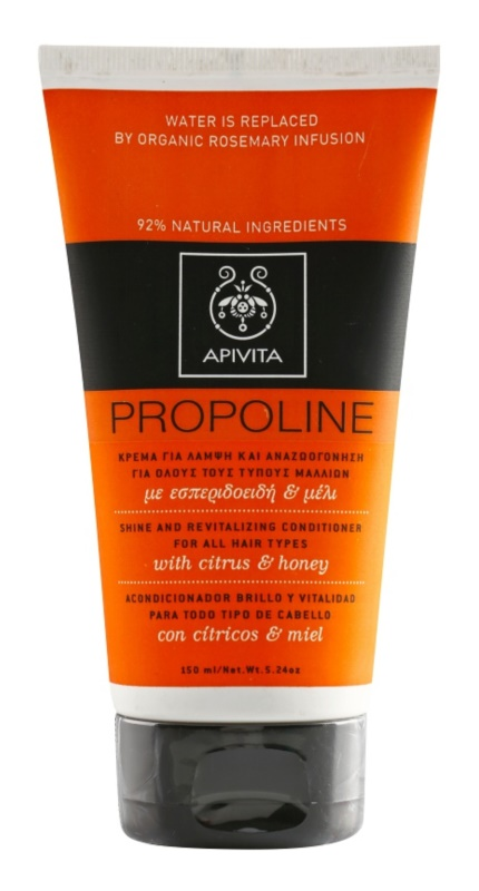 Apivita Holistic Hair Care Citrus & Honey acondicionador revitalizante para todo tipo de cabello