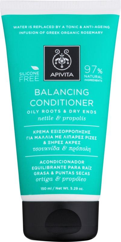 Apivita Holistic Hair Care Nettle & Propolis condicionador nutritivo para cabelo seco