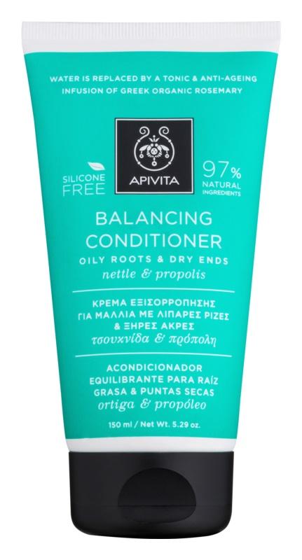 Apivita Holistic Hair Care Nettle & Propolis поживний кондиціонер для сухого волосся