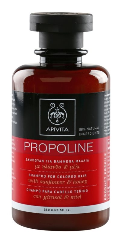 Apivita Holistic Hair Care Sunflower & Honey champô para cabelo pintado