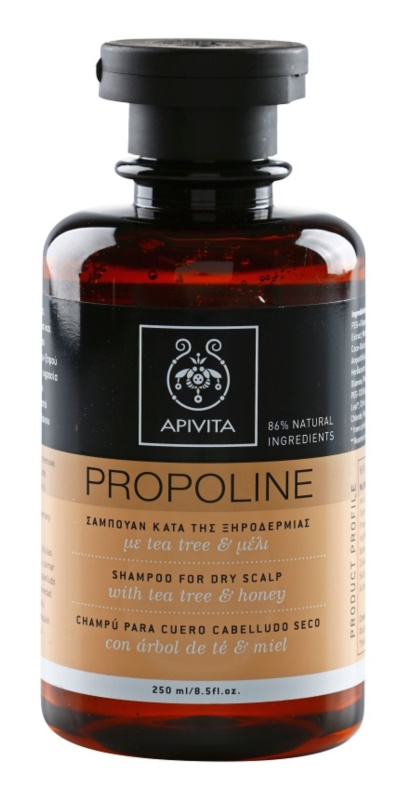 Apivita Holistic Hair Care Tea Tree & Honey sampon pentru un scalp uscat, atenueaza senzatia de mancarime