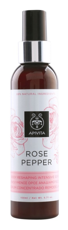 Apivita Rose Pepper интензивен стягащ серум против целулит