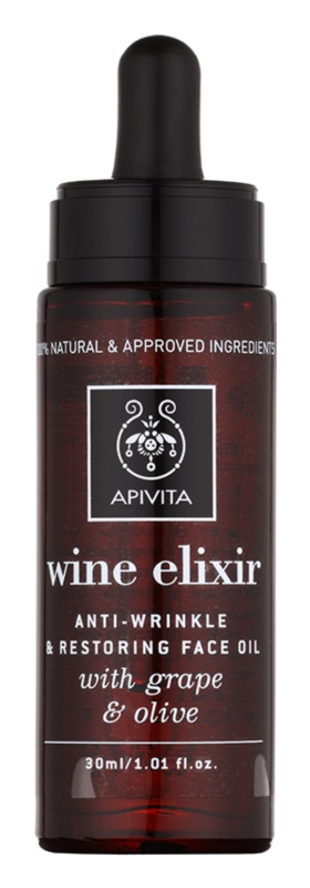 Apivita Wine Elixir Grape & Olive anti-age ulje za lice s obnavljajućim učinkom
