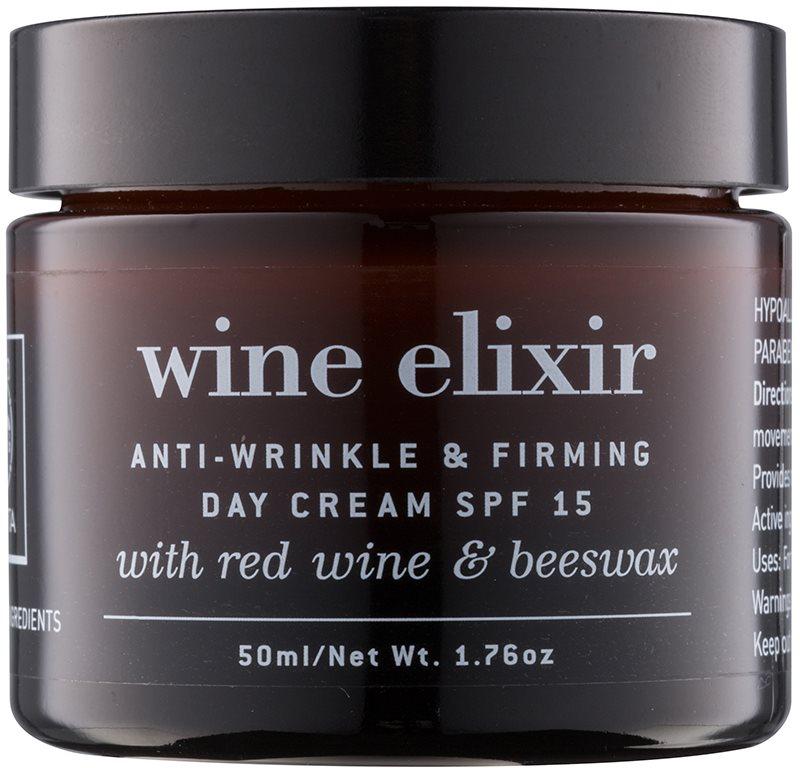 Apivita Wine Elixir Red Wine & Beeswax crema de zi pentru contur si fermitate