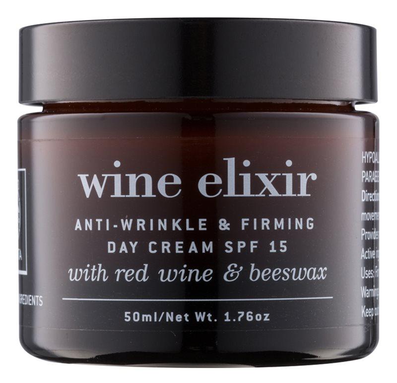 Apivita Wine Elixir Red Wine & Beeswax creme de dia fortificante antirrugas