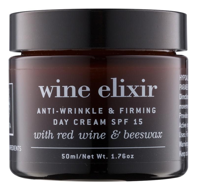 Apivita Wine Elixir Red Wine & Beeswax Festigende Tagescreme gegen Falten