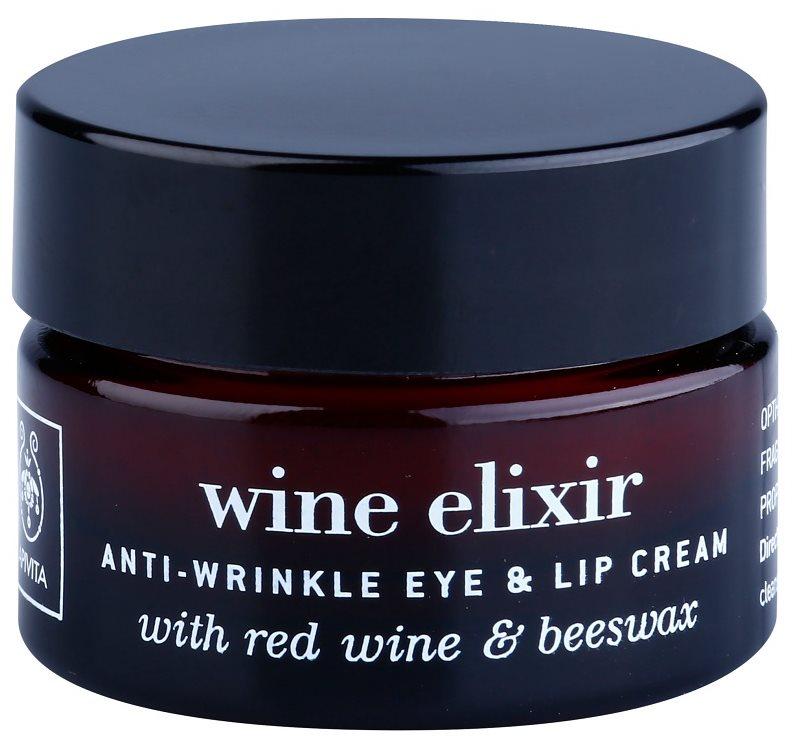 Apivita Wine Elixir Red Wine & Beeswax protivráskový krém na okolie očí a pier