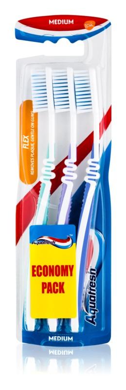 Aquafresh Flex zubní kartáčky medium