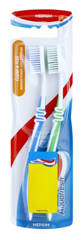 Aquafresh Clean & Flex zubné kefky medium 2 ks