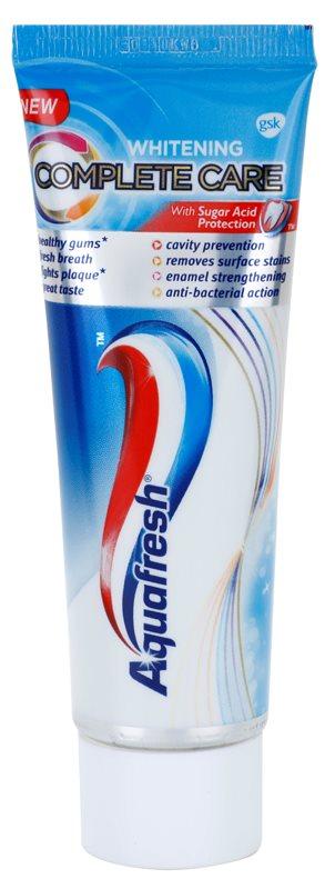 Aquafresh Complete Care Whitening pasta de dinti albitoare cu Fluor