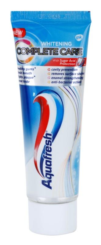 Aquafresh Complete Care Whitening избелваща паста за зъби с флуорид