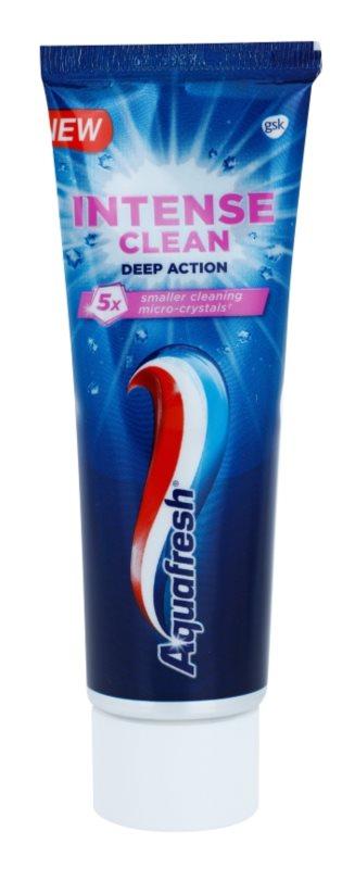 Aquafresh Intense Clean Deep Action Zahnpasta mit aktiven mikrokristallen