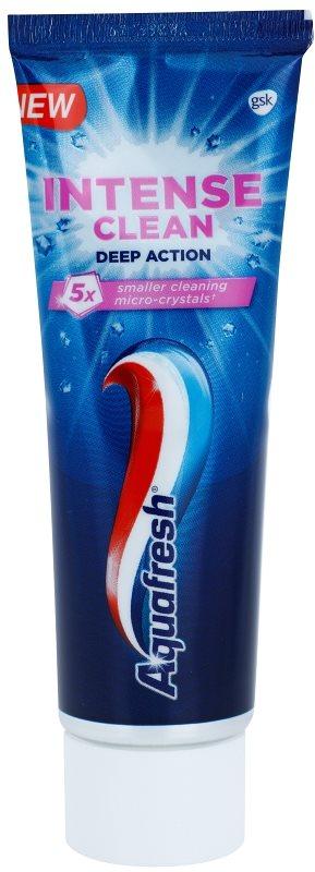 Aquafresh Intense Clean Deep Action zubní pasta s aktivními mikrokrystaly