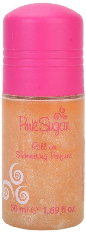 Aquolina Pink Sugar Deo-Roller für Damen 50 ml  mit Glitzerteilchen