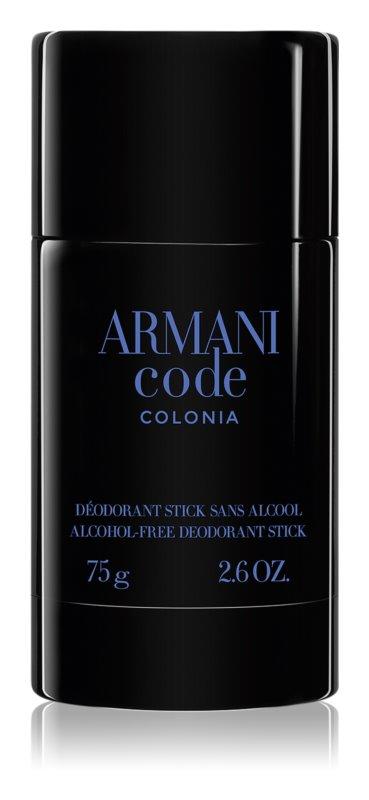Armani Code Colonia dédorant stick pour homme 75 g