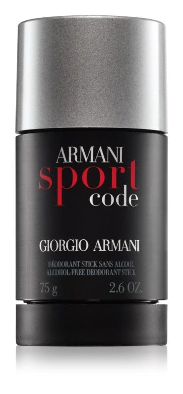 Armani Code Sport desodorizante em stick para homens 75 ml