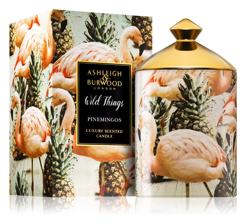 Ashleigh & Burwood London Wild Things Pinemingos bougie parfumée 320 g  (Coconut & Lychee)