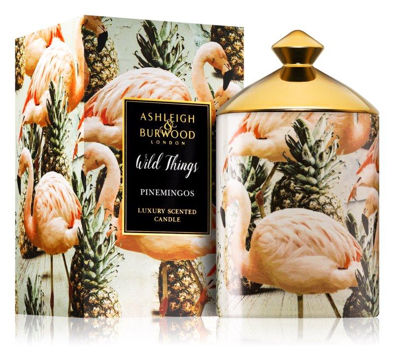 Ashleigh & Burwood London Wild Things Pinemingos dišeča sveča  320 g  (Coconut & Lychee)