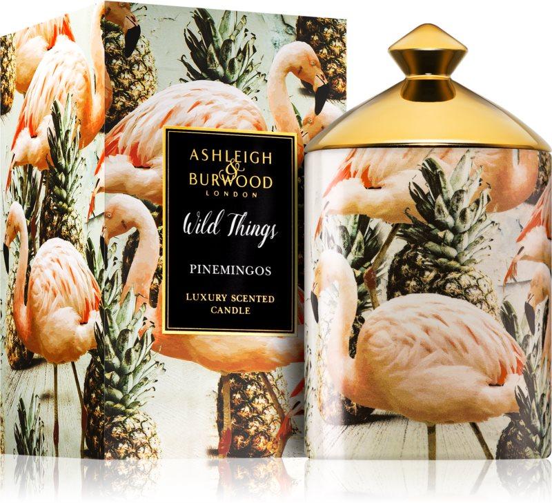 Ashleigh & Burwood London Wild Things Pinemingos Geurkaars 320 gr  (Coconut & Lychee)