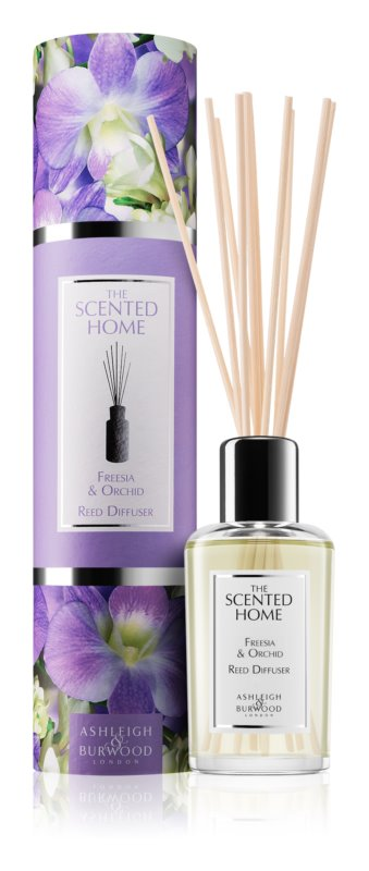 Ashleigh & Burwood London The Scented Home Freesia & Orchid Aroma Diffuser met vulling 150 ml