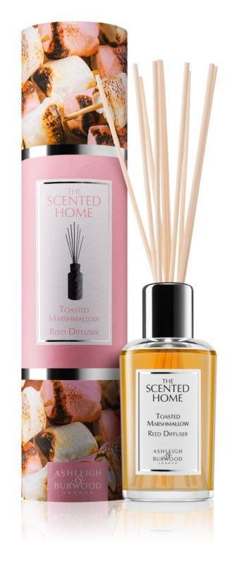Ashleigh & Burwood London The Scented Home Toasted Marshmallow Aroma Diffuser met vulling 150 ml